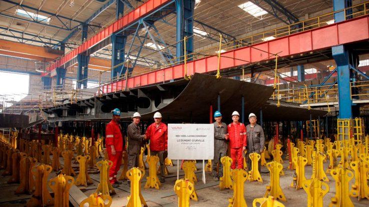Ponant feiert die Kiellegung für zwei neue Schiffe. Foto: Ponant