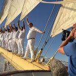 Dreharbeiten zu Sehnsucht Segeln an Bord der Royal Clipper. Foto: Star Clippers