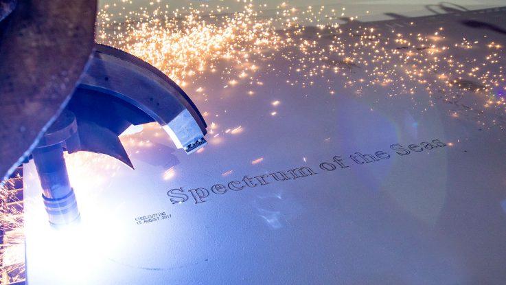 Brennstart für die Spectrum of the Seas. Foto: Meyer Werft