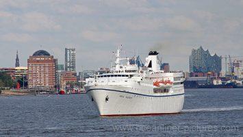 MS Ocean Majesty auslaufend aus Hamburg am 16.08.2017 in Richtung Island. Foto: K.Kaulfuss