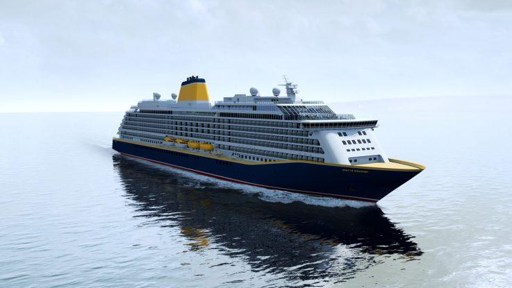 Spirit of Discovery , das Schwesterschiff von der jetzt bestellen Spirit of Adventure, die 2020 an Saga Cruises geliefert wird. Foto: Meyer Werft