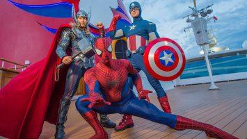 Disney feiert an Bord der Disney Magic den Marvel Day at Sea. Foto: Disney Cruise Line/Chloe Rice