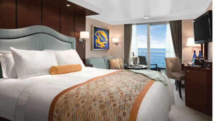Blick in eine der neuen Concierge Level Kabinen an Bord der Oceania Flotte. Foto: Oceania Cruises