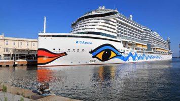 AIDAperla von AIDA Cruises. / Foto: Oliver Asmussen/oceanliner-pictures.com