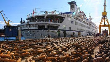 Die MS Berlin hat die Werft wieder verlassen und befindet sich auf dem Weg nach Kuba. Foto: FTI Cruises