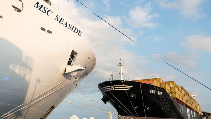 Taufe Der Msc Seaside Im Hafen Von Miami Cruisestartde