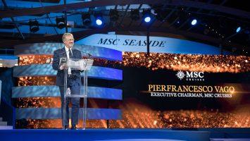 Pierfrancesco Vago, Executive Chairman von MSC Cruises auf der Taufe. Foto: MSC Kreuzfahrten