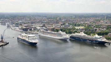 Rekord in Kiel. Soviel Kreuzfahrer wie nie werden Kiel besuchen. Foto: Port of Kiel/Peter Luehr