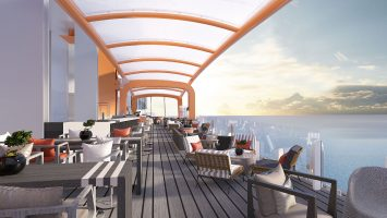 Der Magic Carpet an Bord der Celebrity Edge. Foto: Celebrity Cruises