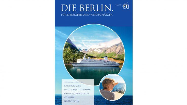 Jahresprogramm 2019 für die MS Berlin. Foto: FTI Cruises