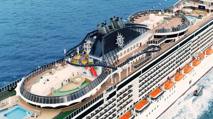 Die MSC Preziosa ist heute zum Erstanlauf in Kiel. Foto. MSC Kreuzfahrten