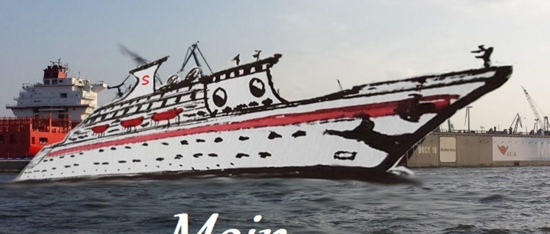In Hamburg kommen die ersten Gäste an Bord der MS Schüppy. Foto/Illustration: Boris Noruschat