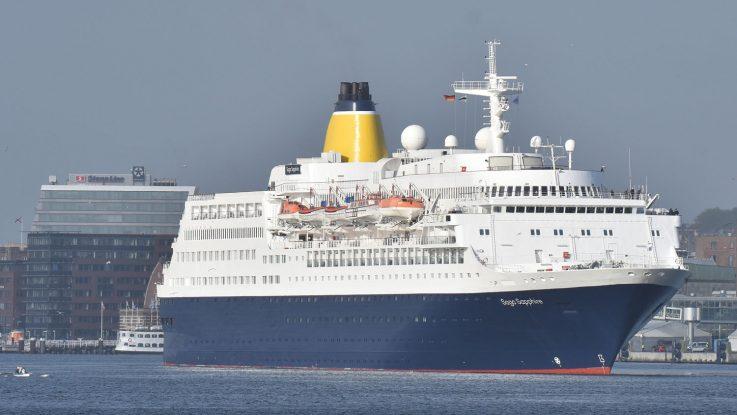Die Saga Sapphire in Kiel. Foto: Port of Kiel/Stephen Gergs