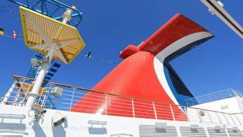 Carnival Horizon Schornstein. / Foto: Oliver Asmussen/oceanliner-pictures.com