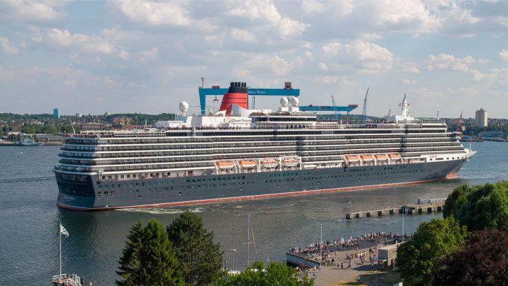 Erstanlauf der Queen Victoria in Kiel. Foto: Cunard