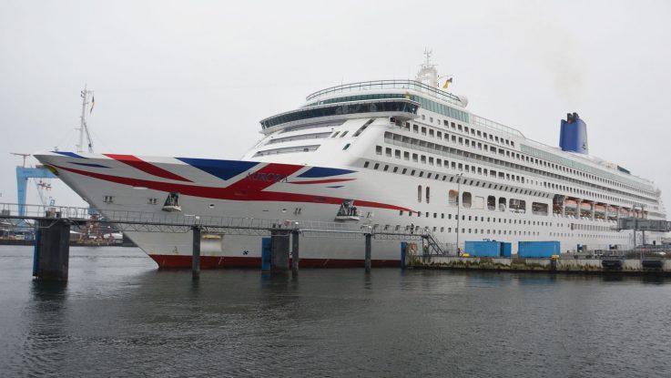 Die Aurora beim Erstanlauf in Kiel. Foto: Port of Kiel