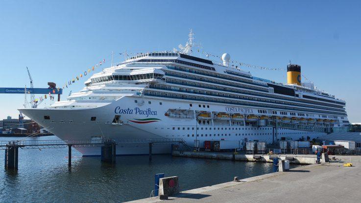 Die Costa Pacifica am Ostseekai. Foto:Port of Kiel