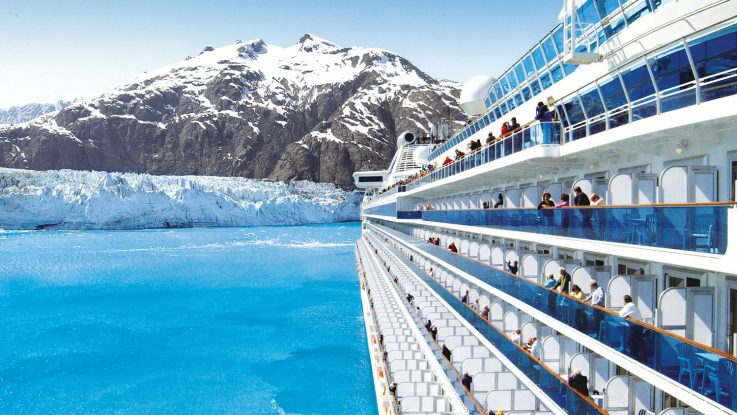 Island Princess in der Glacier Bay in Alaska. Foto: Princess Cruises