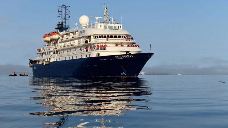 Die Sea Spirit auf See. Foto: Poseidon Expeditions