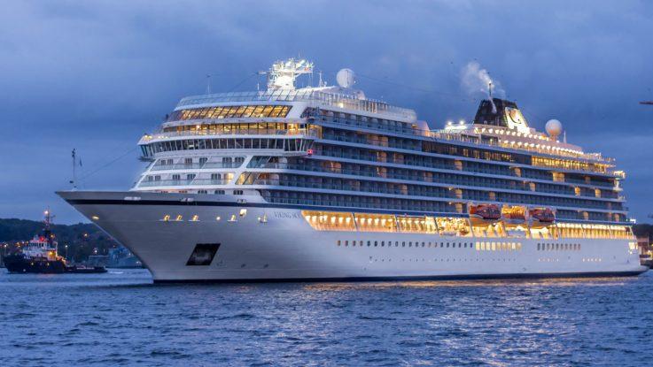 Die Viking Sky zum Erstanaluf in Kiel. Foto: Port of Kiel.