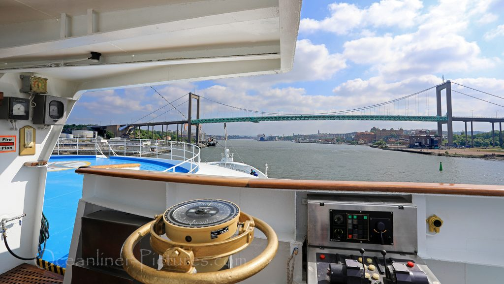 Aelvsborgsbridge Göteborg Ocean Majesty / Foto: Oliver Asmussen/oceanliner-pictures.com