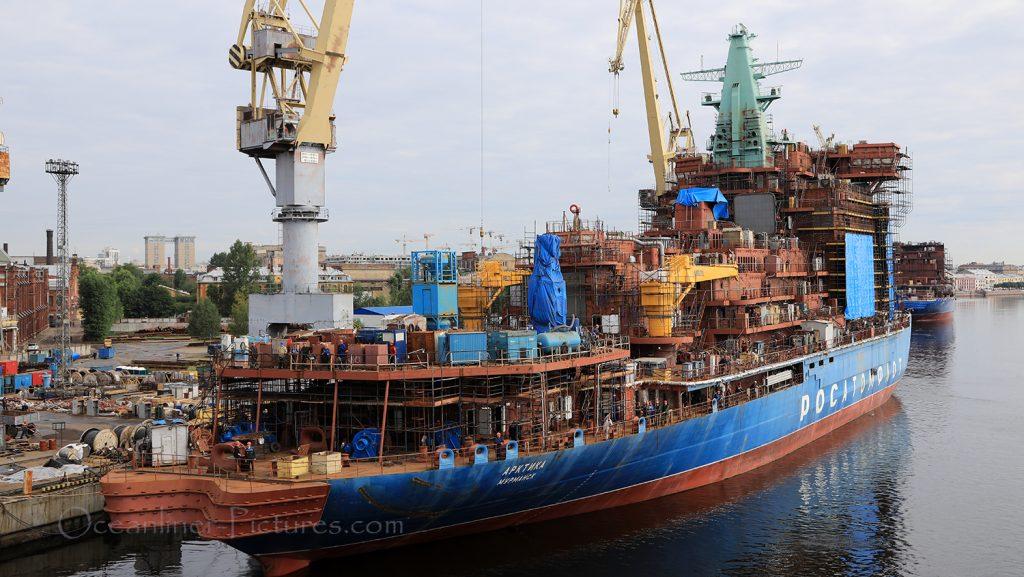 Atomeisbrecher Arktika Schiffswerft St. Petersburg / Foto: Oliver Asmussen/oceanliner-pictures.com
