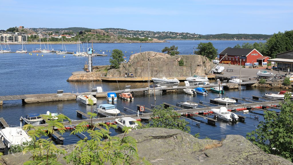 Blick über Kristiansand von Odderoya Festung / Foto: Oliver Asmussen/oceanliner-pictures.com