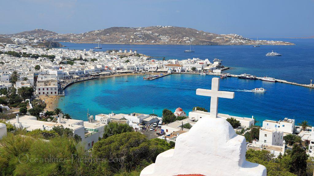 Blick auf den Old Port und die Altstadt von Mykonos / Foto: Oliver Asmussen/oceanliner-pictures.com