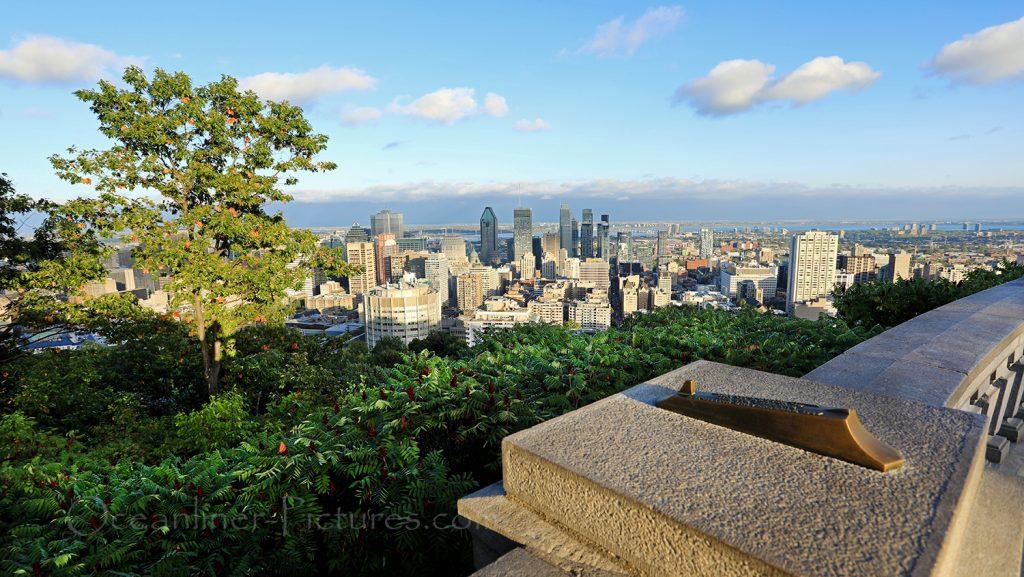 Blick vom Mont Royal auf die Stadt Montreal / Foto: Oliver Asmussen/oceanliner-pictures.com