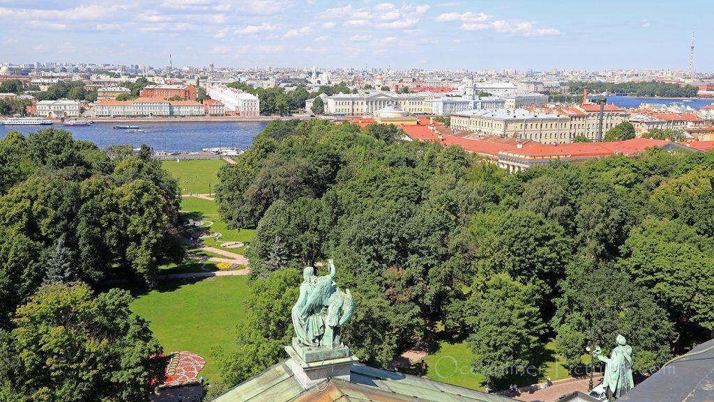 Blick von Isaakskathedrale auf St. Petersburg / Foto: Oliver Asmussen/oceanliner-pictures.com