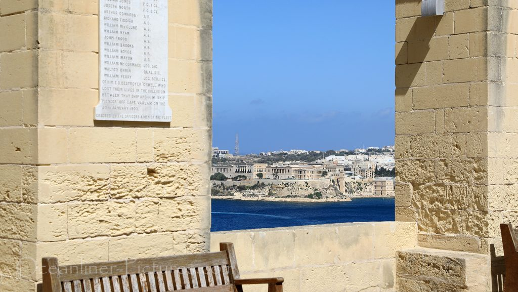 Blick von Upper Barrakka Gardens Valletta, Malta / Foto: Oliver Asmussen/oceanliner-pictures.com