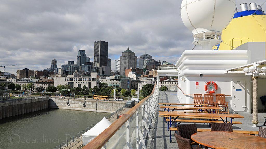 Blick von der MS Hamburg auf die Skyline von Montreal / Foto: Oliver Asmussen/oceanliner-pictures.com