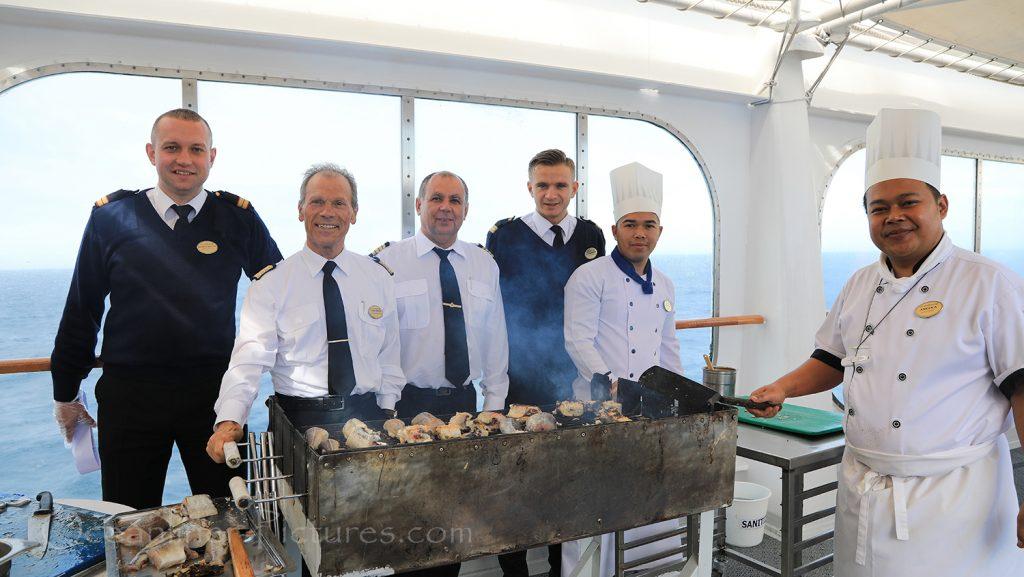 Fangfrischer Kabeljau aus Grönland an Bord der MS Hamburg / Foto: Oliver Asmussen/oceanliner-pictures.com