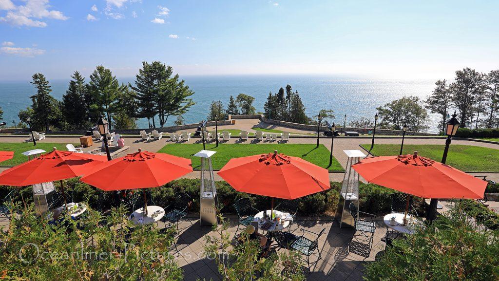 Hotel Fairmont Le Manoir Richelieu Terrasse, La Malbaie, Quebec / Foto: Oliver Asmussen/oceanliner-pictures.com