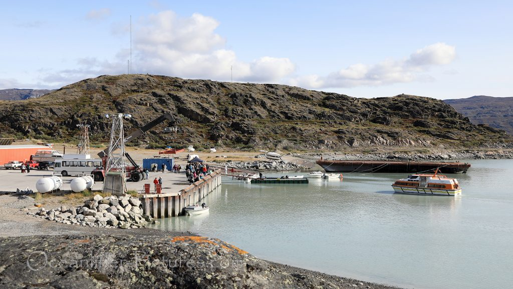 Kangerlussuaq Hafen / Foto: Oliver Asmussen/oceanliner-pictures.com