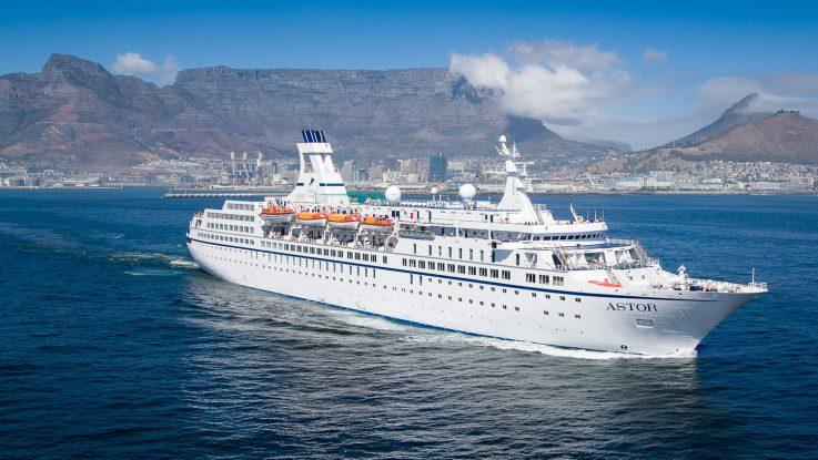 Die MS Astor. Foto: TransOcean Kreuzfahrten