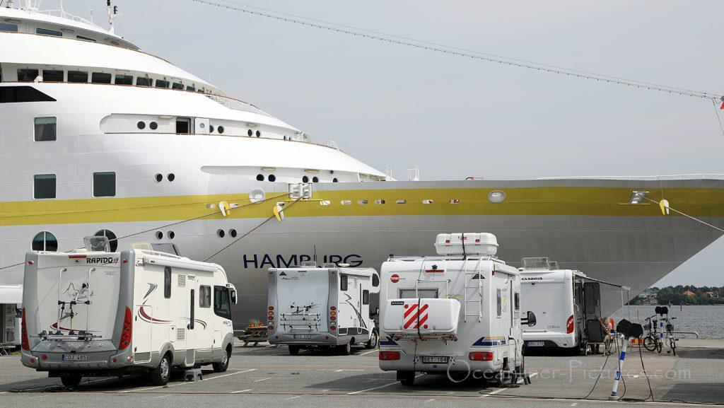 MS Hamburg Liegeplatz in Karlskrona / Foto: Oliver Asmussen/oceanliner-pictures.com