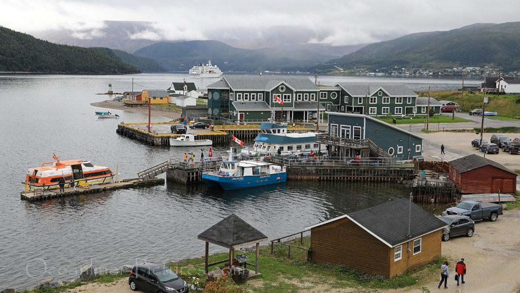 MS Hamburg vor Norris Point, Newfoundland / Foto: Oliver Asmussen/oceanliner-pictures.com