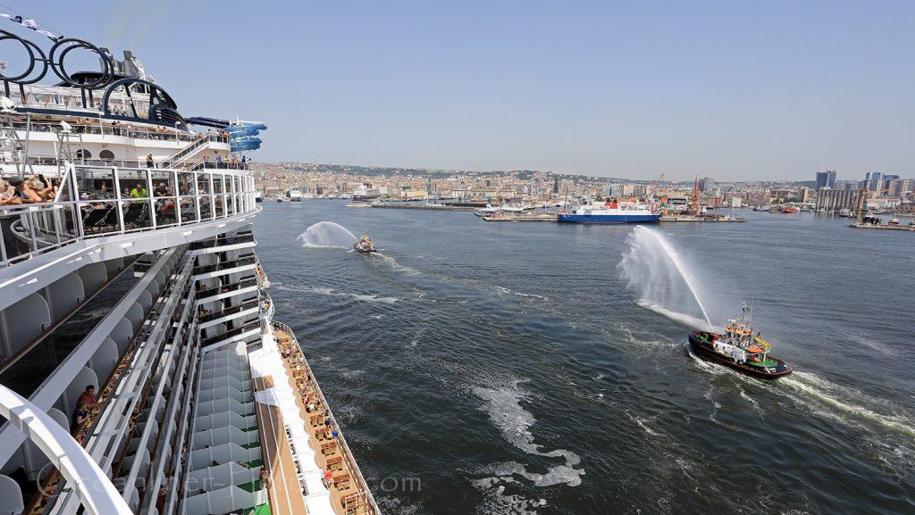 MSC Seaview Erstanlauf in Neapel, Italien / Foto: Oliver Asmussen/oceanliner-pictures.com