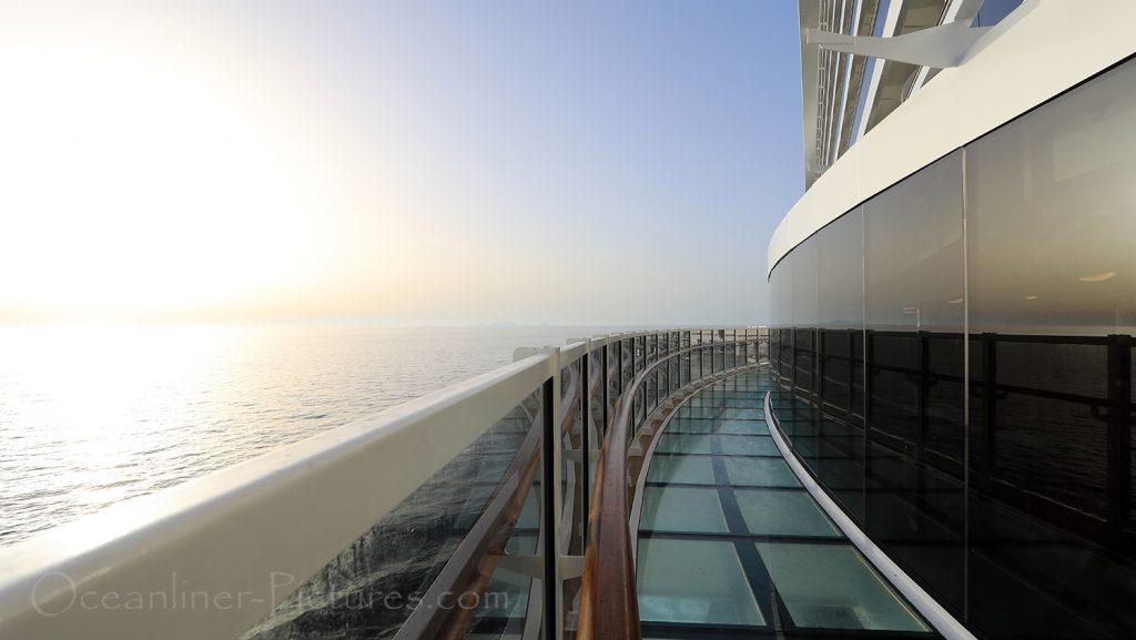 MSC Seaview Infinity Bridge Sonnenuntergang / Foto: Oliver Asmussen/oceanliner-pictures.com