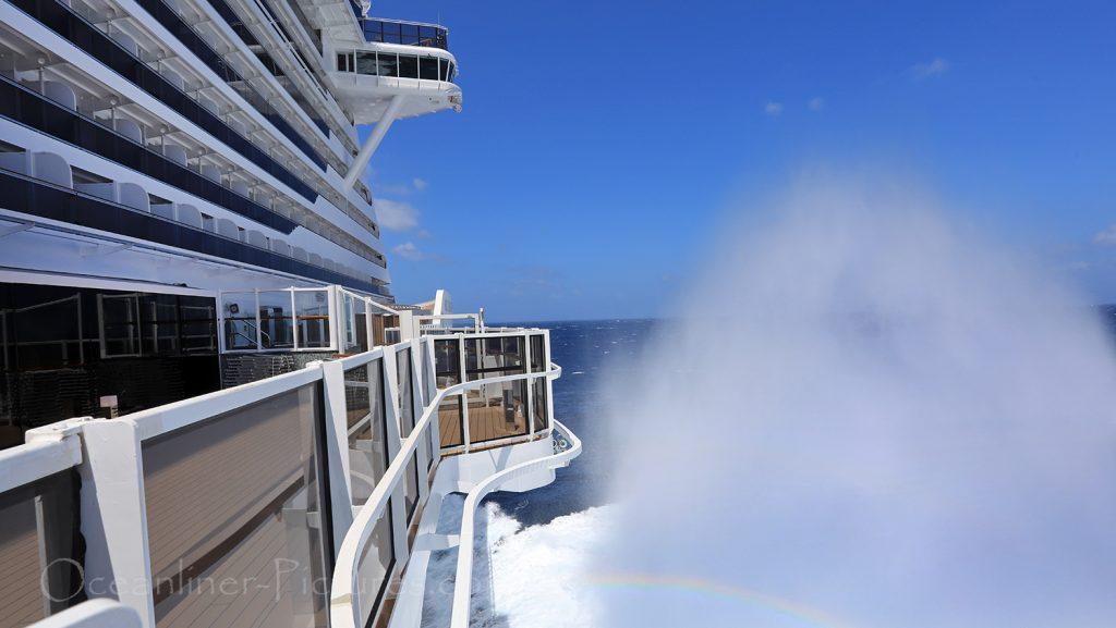 MSC Seaview Sturmfahrt im Mittelmeer / Foto: Oliver Asmussen/oceanliner-pictures.com