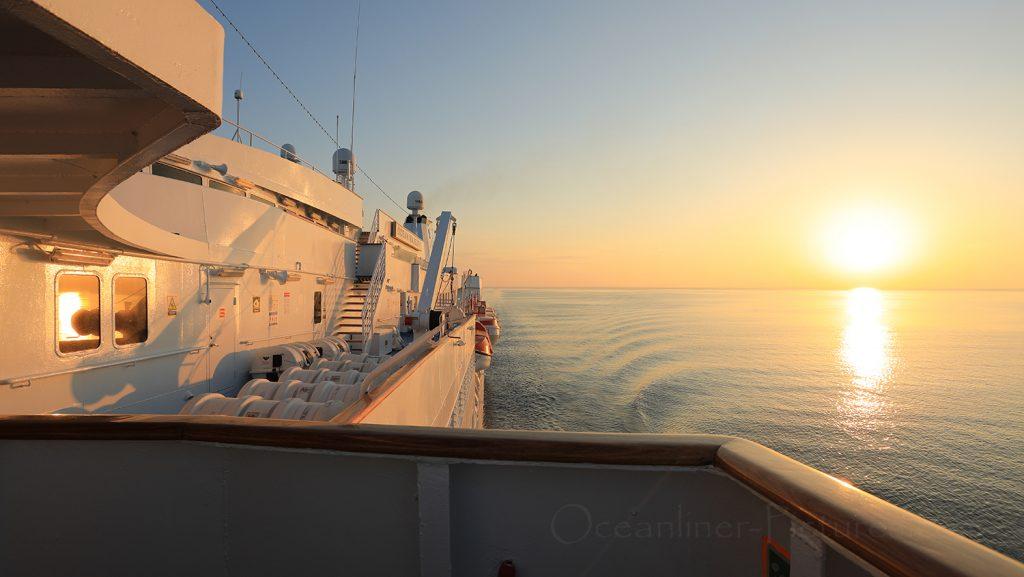 Ocean Majesty am Abend auf See in Richtung Kopenhagen / Foto: Oliver Asmussen/oceanliner-pictures.com