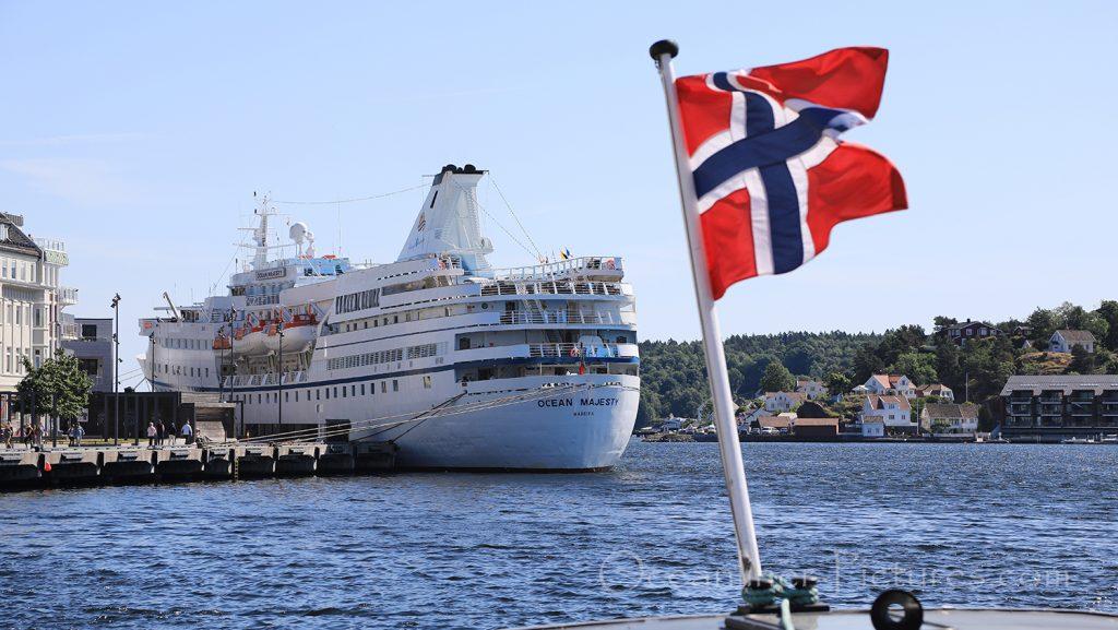 Ocean Majesty in Arendal / Foto: Oliver Asmussen/oceanliner-pictures.com