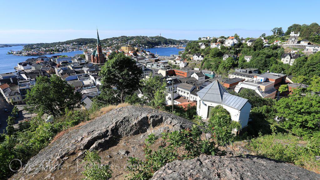 Panoramablick auf Arendal in Norwegen / Foto: Oliver Asmussen/oceanliner-pictures.com