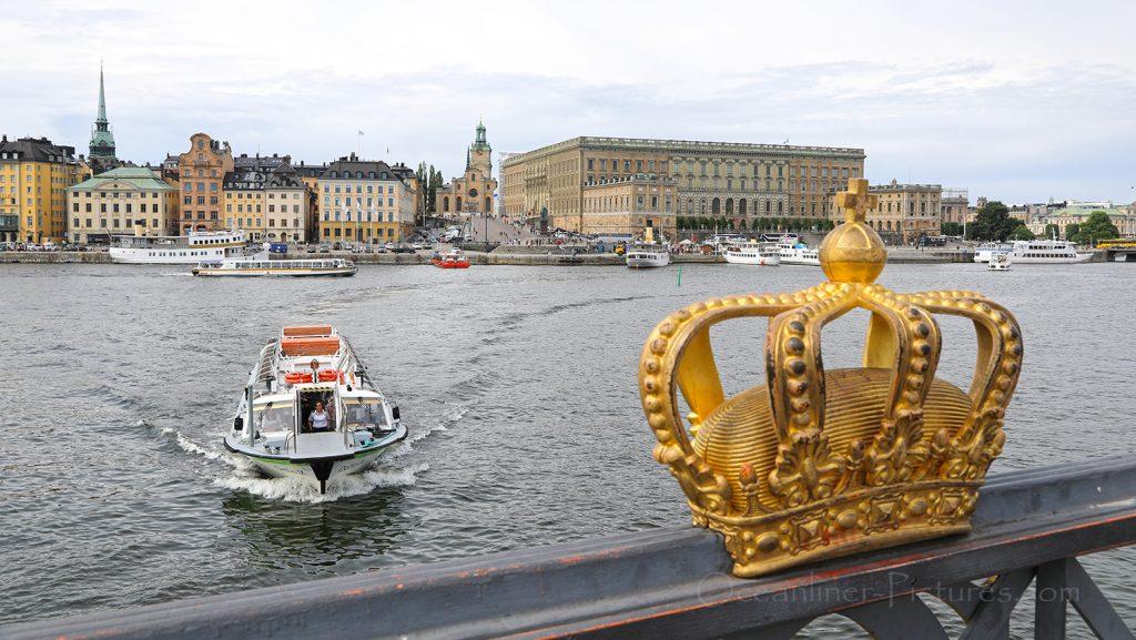 Skeppsholmsbron und Schloss in Stockholm / Foto: Oliver Asmussen/oceanliner-pictures.com