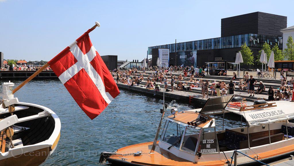 Sommerwetter in Kopenhagen am Ofelia Plads / Foto: Oliver Asmussen/oceanliner-pictures.com