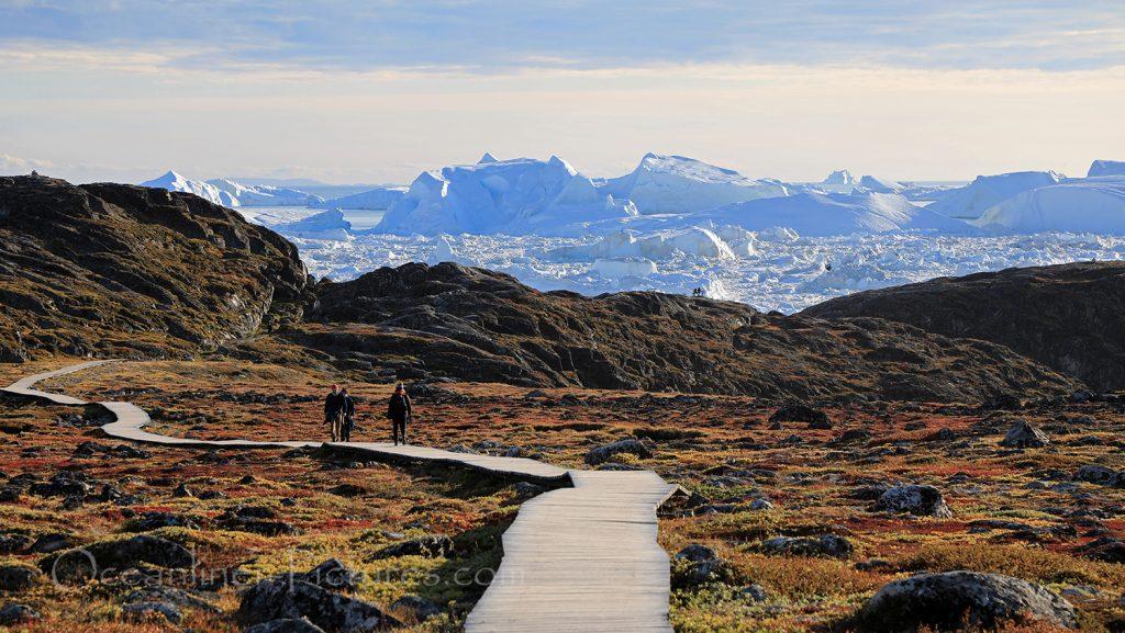 Wanderung zum Ilulissat Eisfjord, Grönland / Foto: Oliver Asmussen/oceanliner-pictures.com
