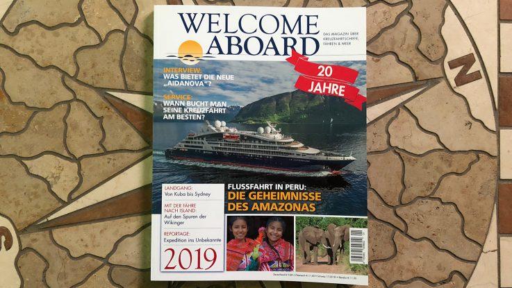 Welcome Aboard cover 2019 / Foto: Oliver Asmussen/oceanliner-pictures.com