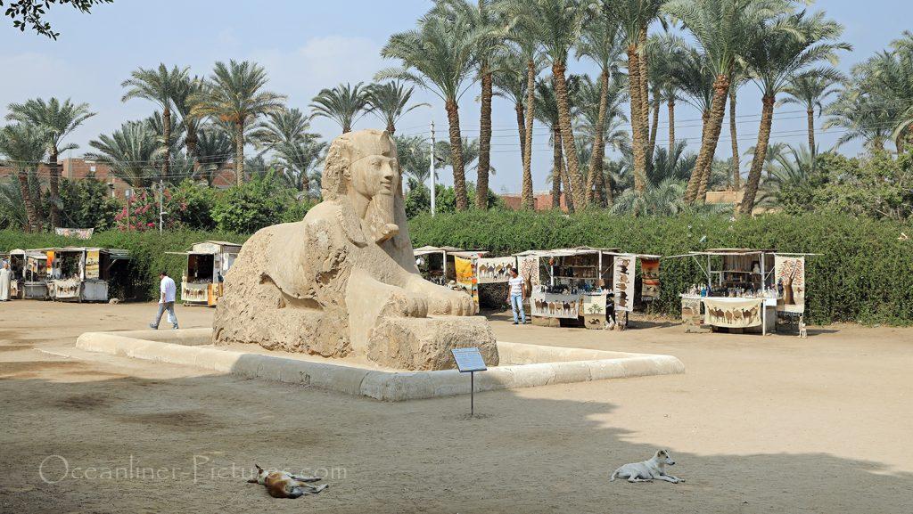 Alabaster-Sphinx in Memphis, Ägypten / Foto: Oliver Asmussen/oceanliner-pictures.com