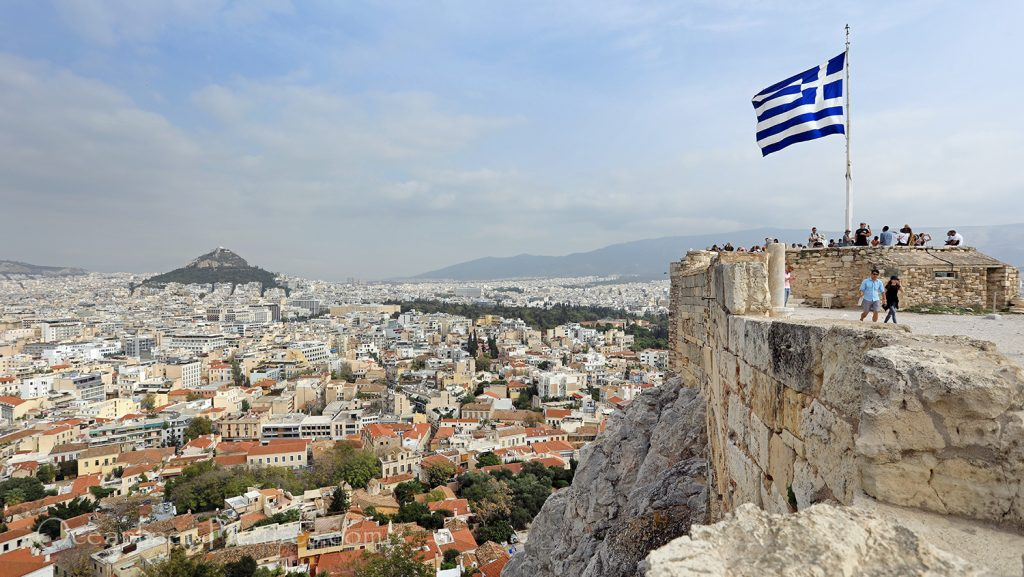 Blick über Athen und Mount Lycabettus von Akropolis / Foto: Oliver Asmussen/oceanliner-pictures.com